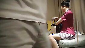 Beauty bel china takes Alex the waiter and milf ejaculates