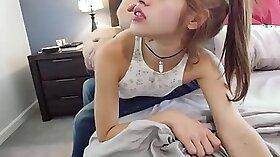 Babysitter in heavy corset spanking