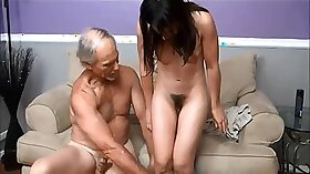 Clothed daddy fucking his old boy