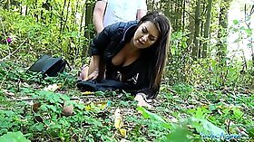 Busty czech girl taking dicks in pussy and ass